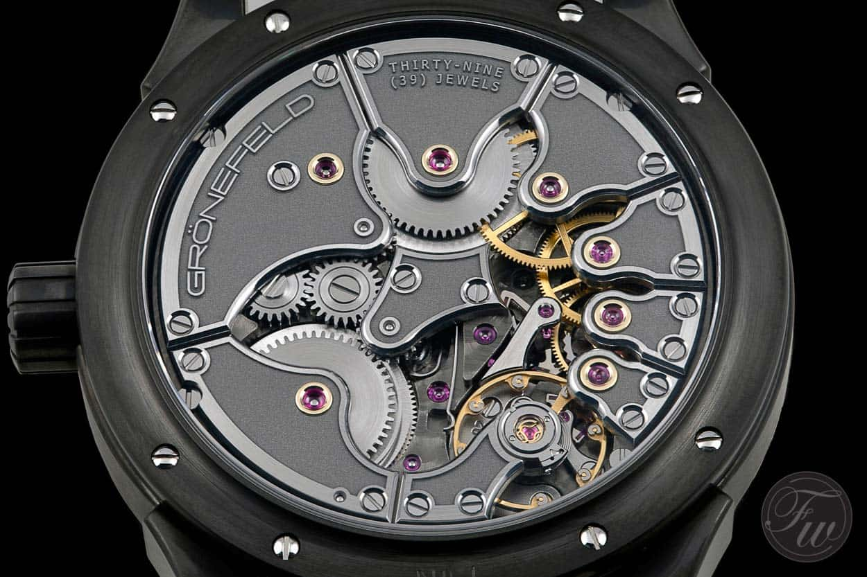 Grönefeld One Hertz using stacking - Watch Photography