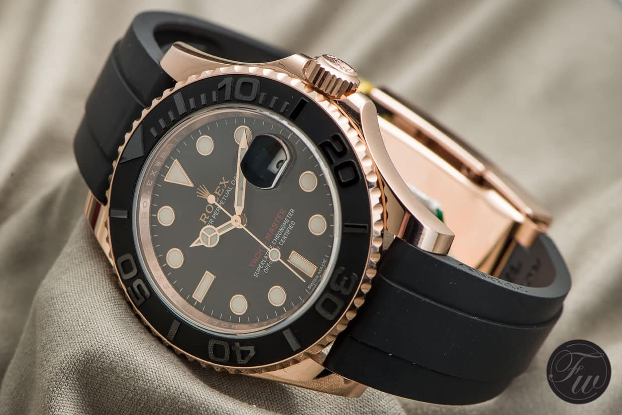Rolex Yachtmaster Ref 116655 With Its Oysterflex Bracelet