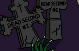 Happy Halloween with dead seconds and zombies