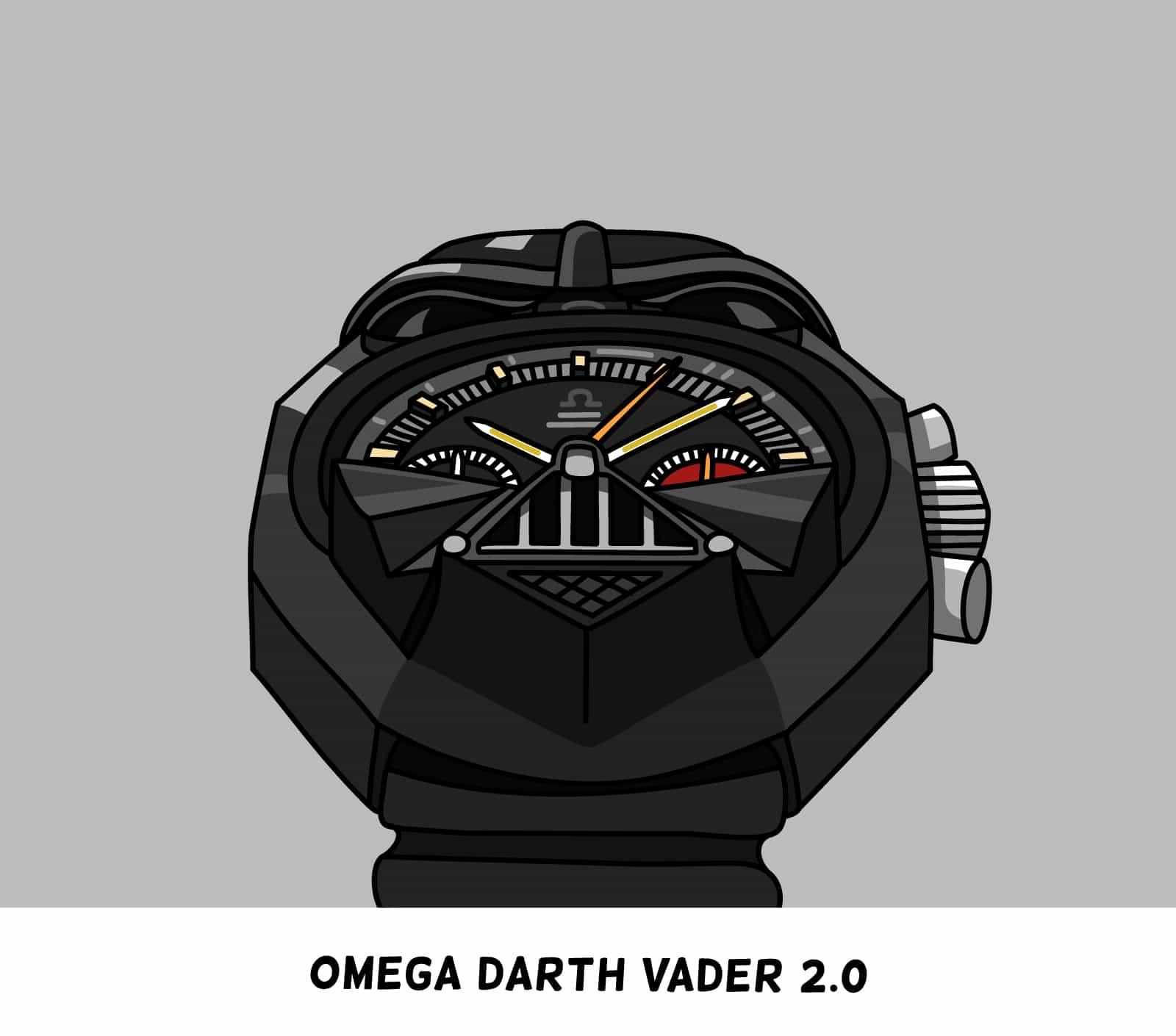 Omega Darth Vader cartoon
