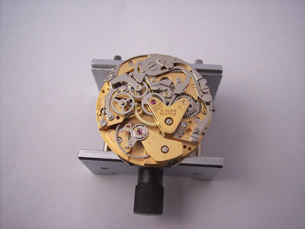 The hi grade finished version of the Valjoux 7736 found inside the Bulova Stars and Stripes
