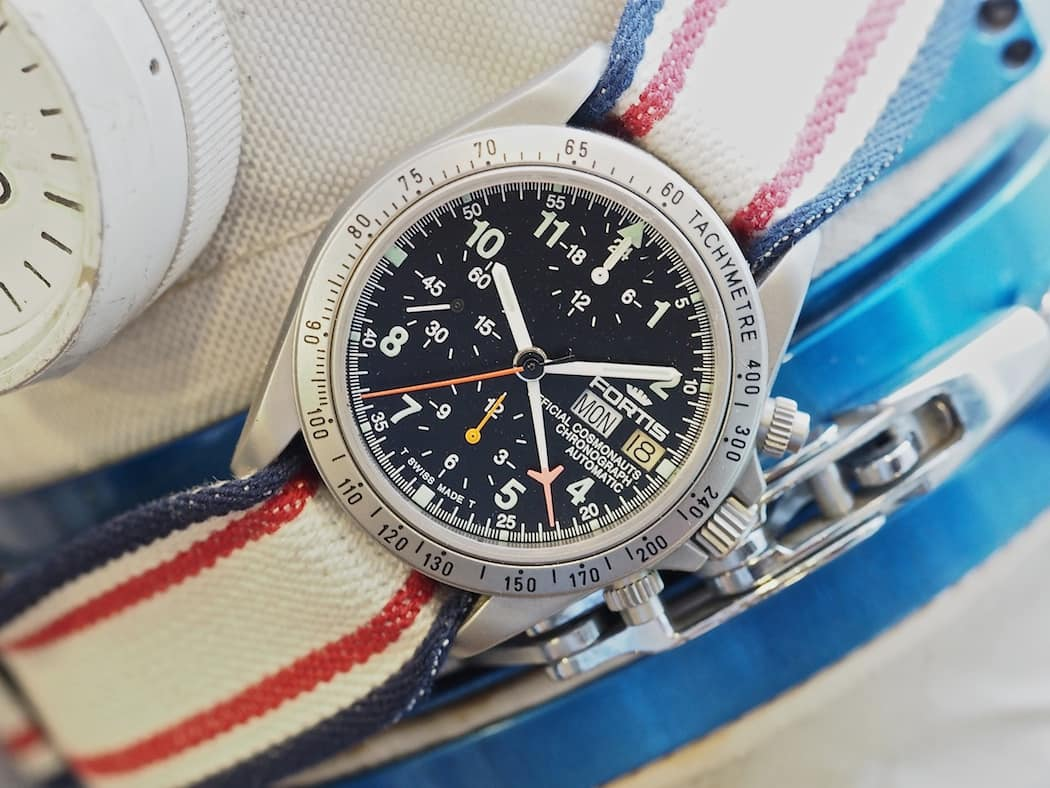 A look at a space-used Fortis Cosmonauts Chronograph from the 1990's