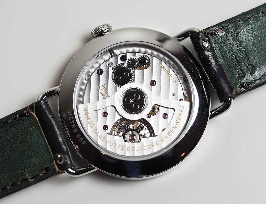 The Nomos Neomatik Metro with DUW3001 movement