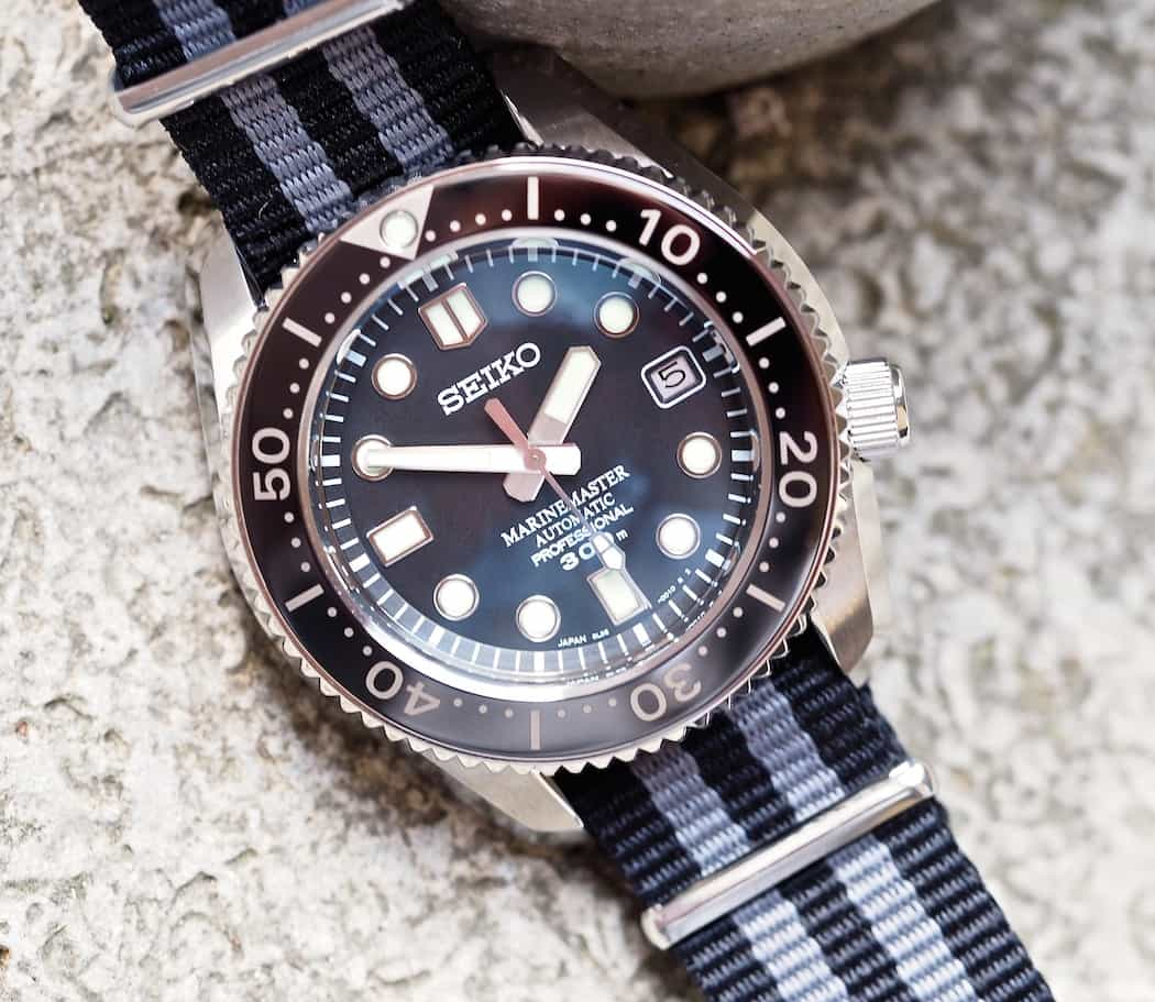The Seiko MM300 features a deeply set dial...take a look at the steep inner bezel