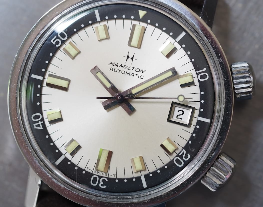 A macro of the beautiful Hamilton 600 dial