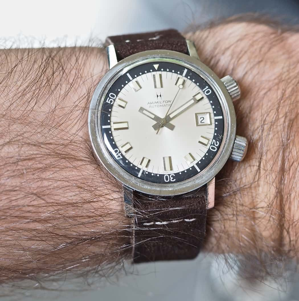 The Hamilton 600 on the wrist...a really comfortable wear