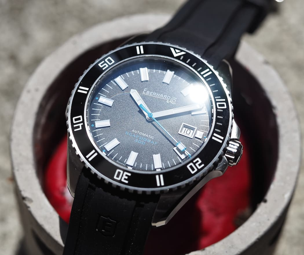 Love that finish on the dial of the Scafograf 300