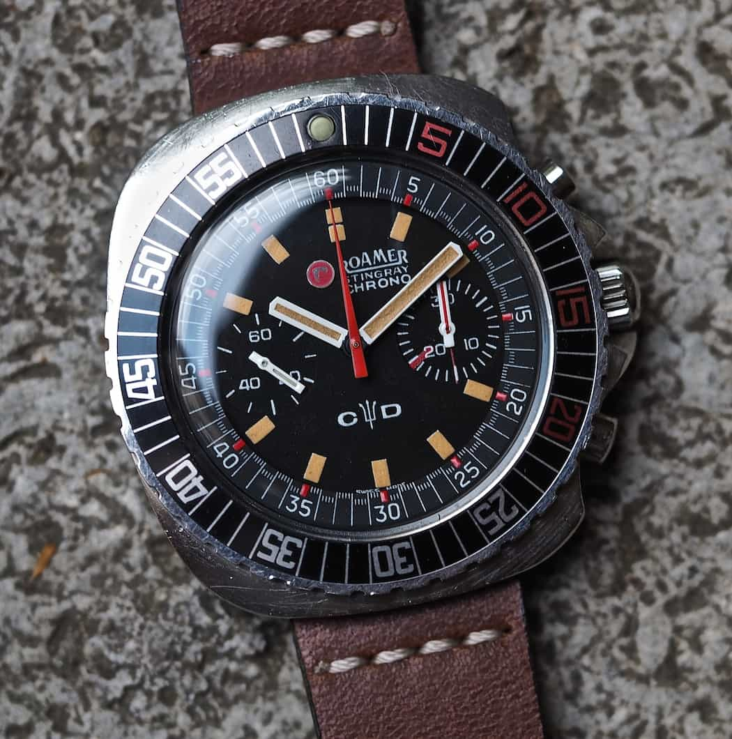 Look at the patina on this Roamer Stingray Chrono Diver
