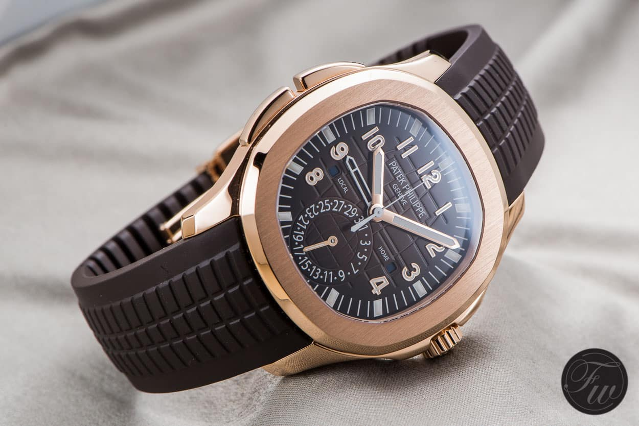 hands on patek philippe aquanaut travel time 5164r