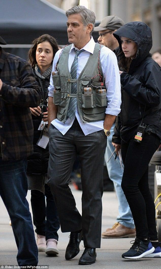 George Clooney in Money Monster wearing a Speedmaster