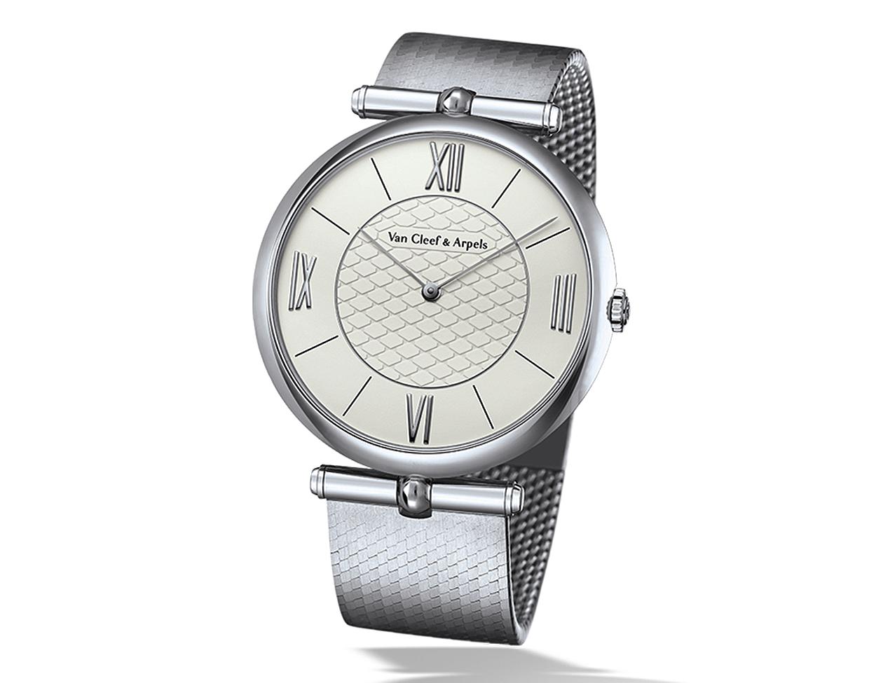 Pierre Arpels Watch on bracelet in white gold