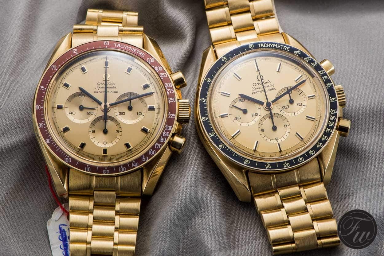 We Take A Closer Look At Two Gold Omega Speedmaster ...