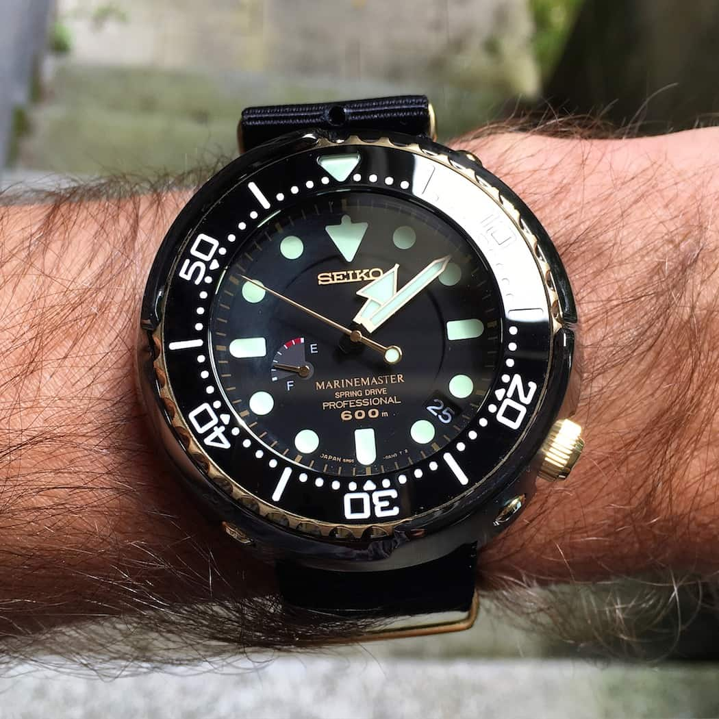 The Seiko Spring Drive Tuna on the wrist - it's actually not that mammoth