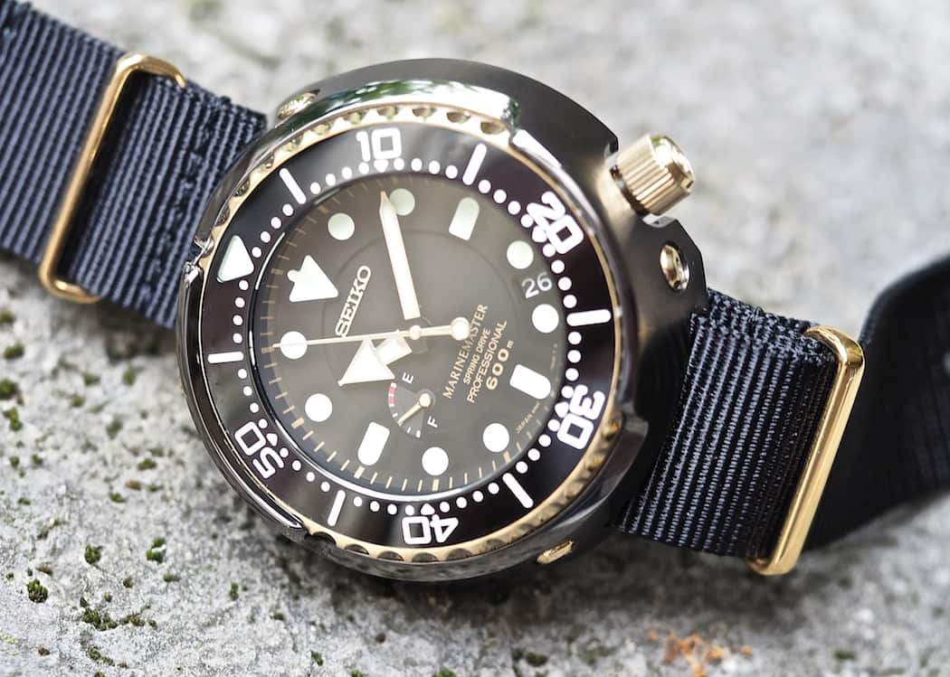 The anti-reflective coating on the sapphire crystal of the Seiko Spring Drive Tuna is extremely effective