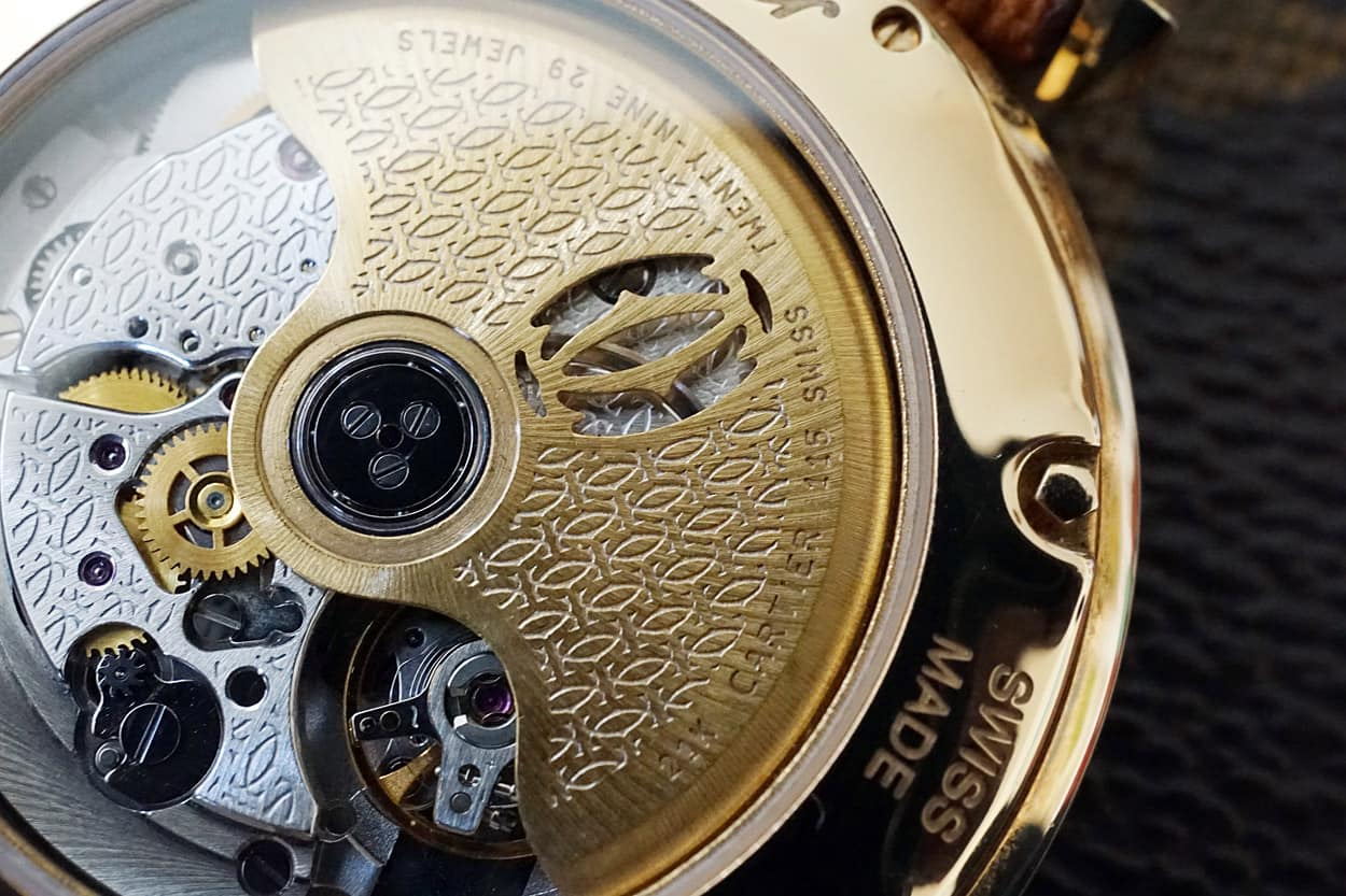 - Collection Privée engraving on the rotor and movement -