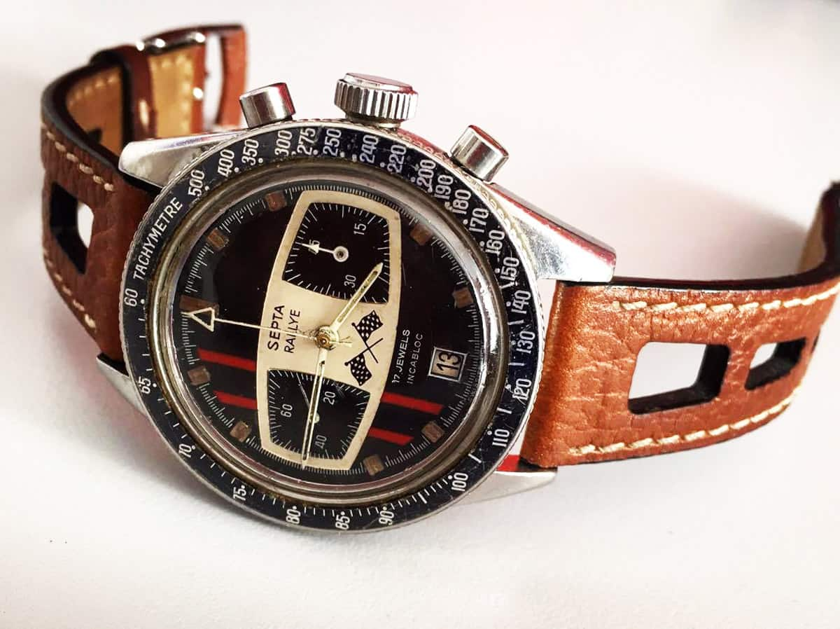 Example of a Septa Rallye with original Yema strap (photo credit: @dutchwatchshots)