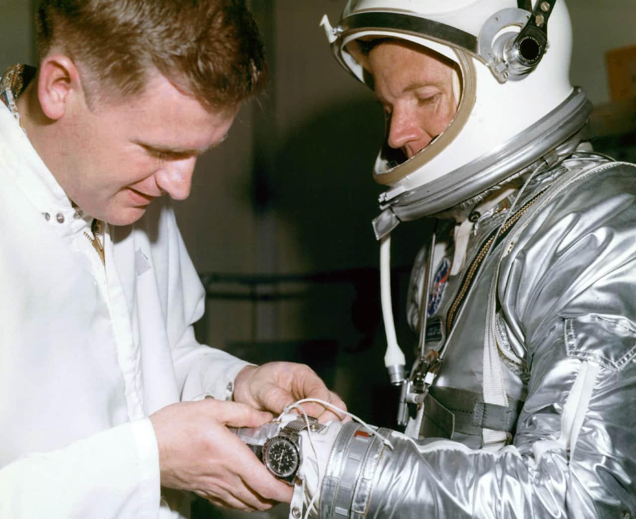 First Speedmaster in Space