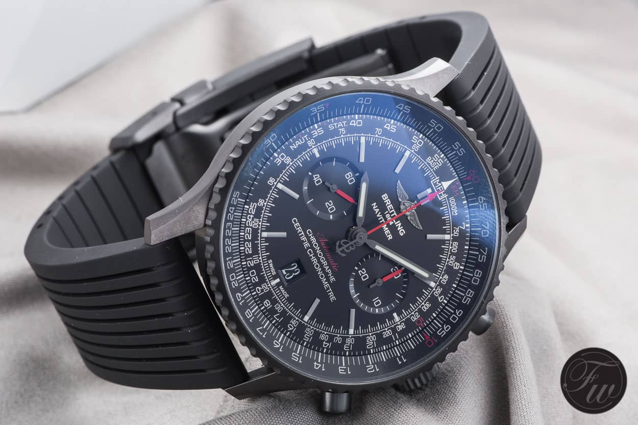 Hands On With The Breitling Navitimer 01 Blacksteel