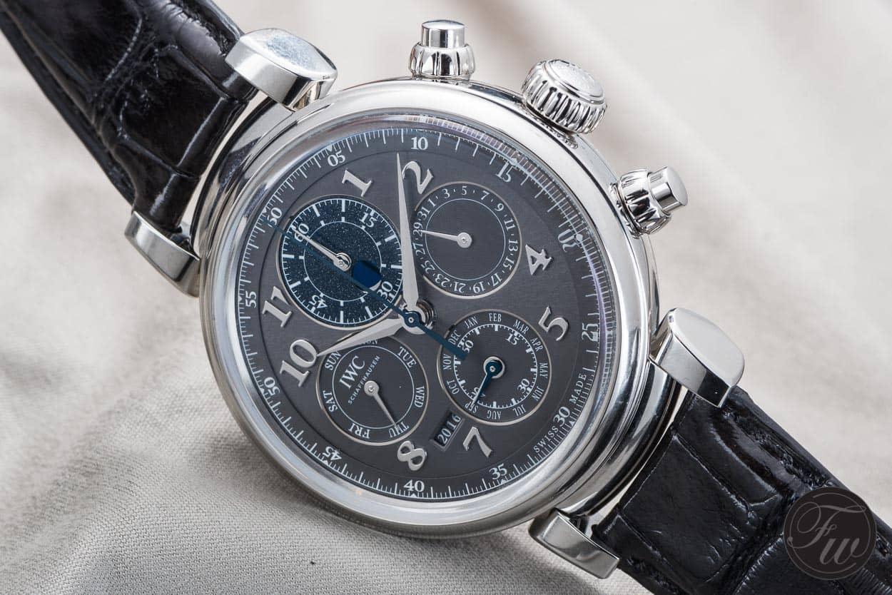 Perpetual Calendar Chronograph : Hands on iwc da vinci perpetual calendar chronograph