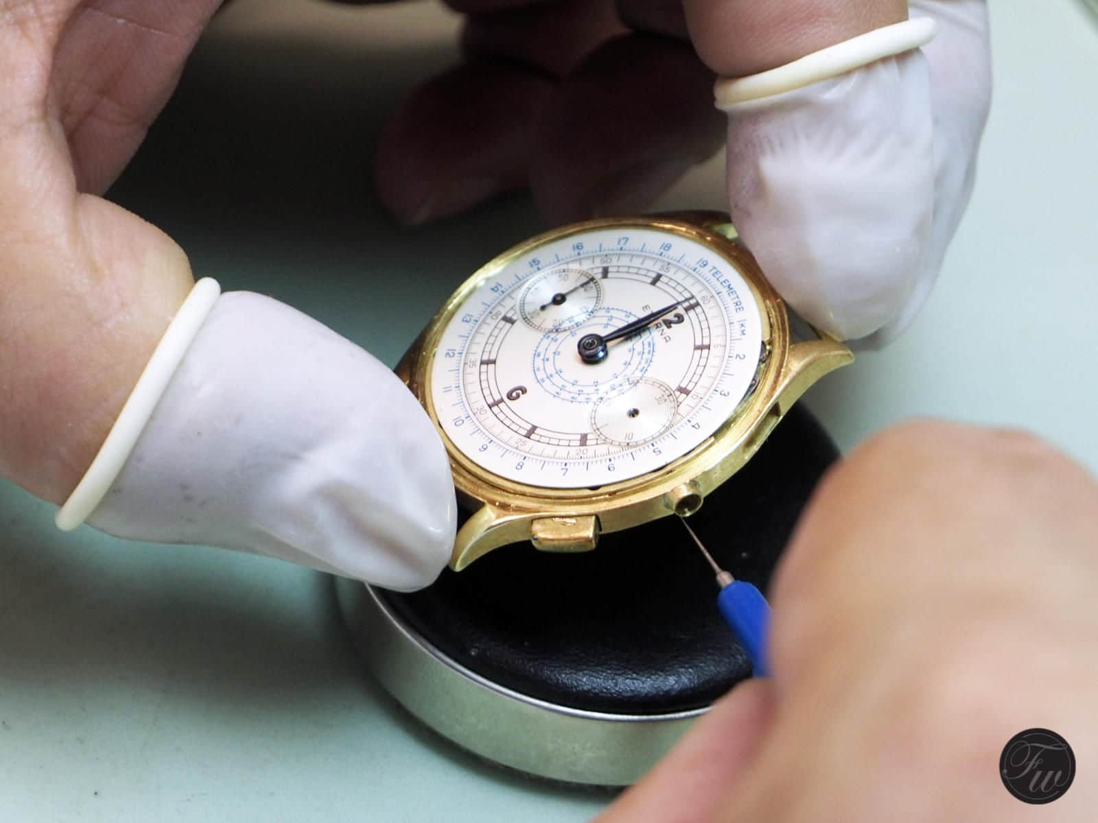chronograph service by Kalle Slaap