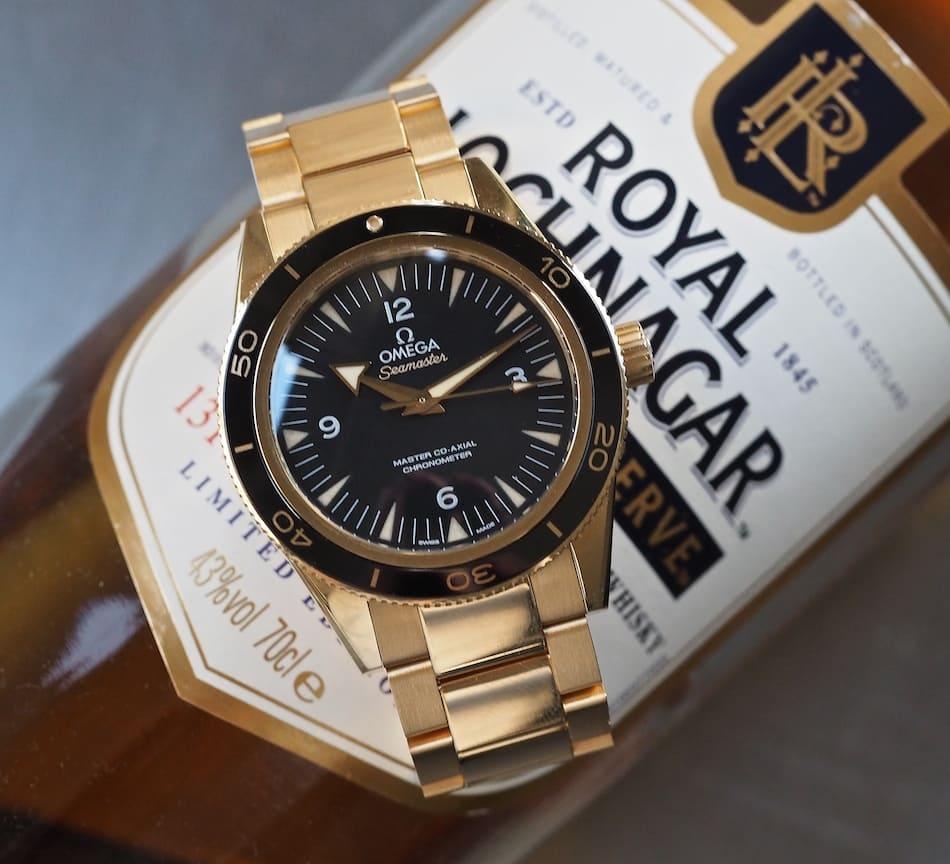 Gold Omega Seamaster 300