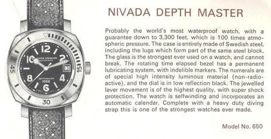 Nivada Grenchen Depthmaster 1000 Diver's