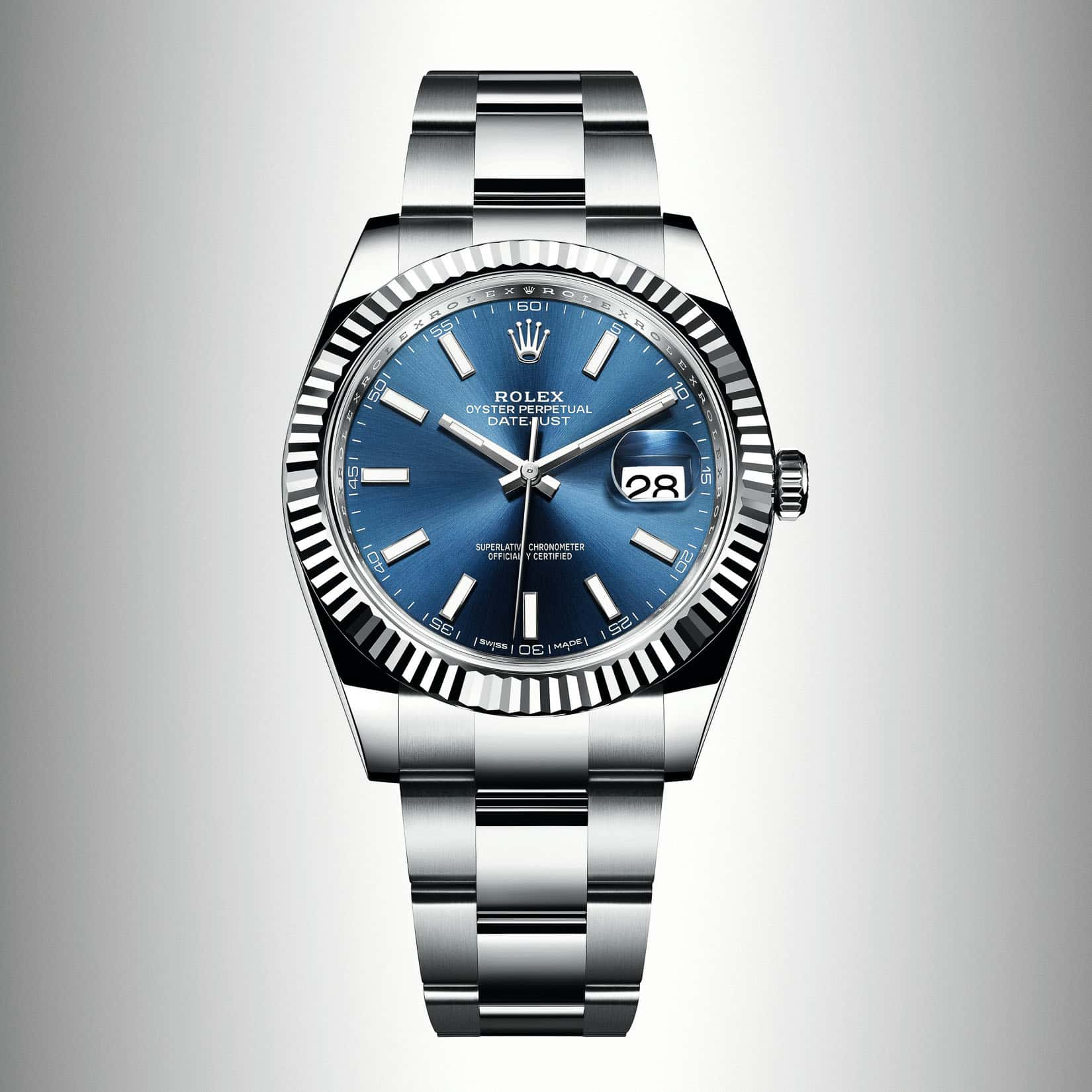 The new rolex datejust 41 in steel and white gold baselworld 2017 for Rolex watch