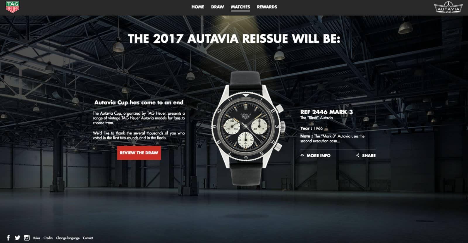 Heuer The Autavia Cup website