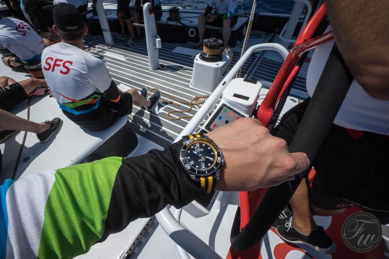 Anonimo Nautilo presentation aboard SFS VOR70 racing yacht