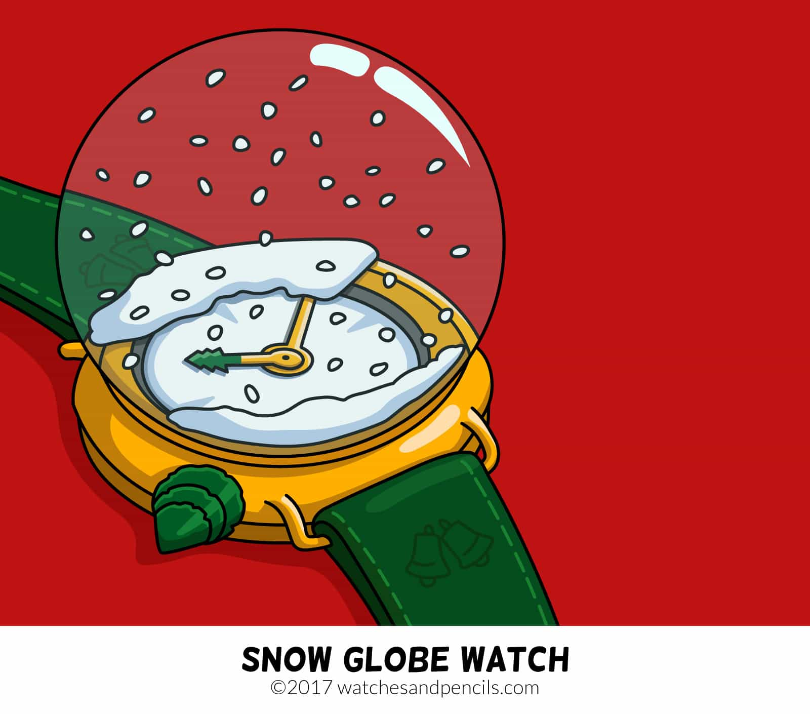 Snow Globe Watch by Watches and Pencils