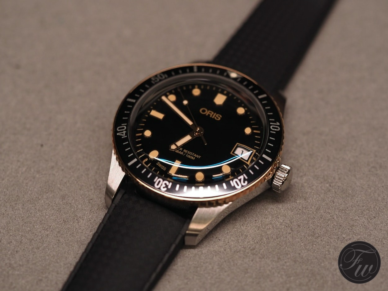 Details Count: The New Oris Divers Sixty-Five Bronze Bezel