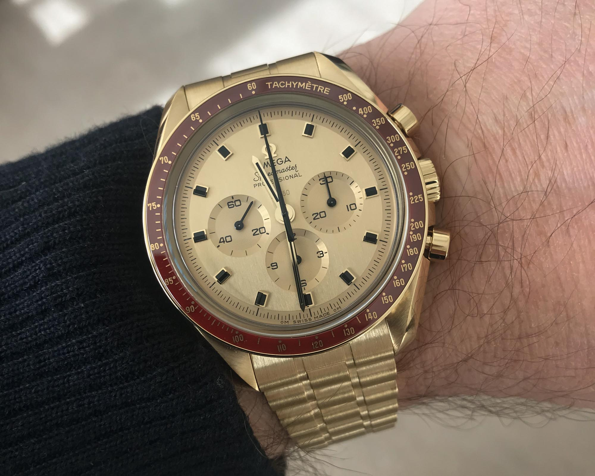 Omega Speedmaster Apollo 11 50th Anniversary In Gold Breaking News