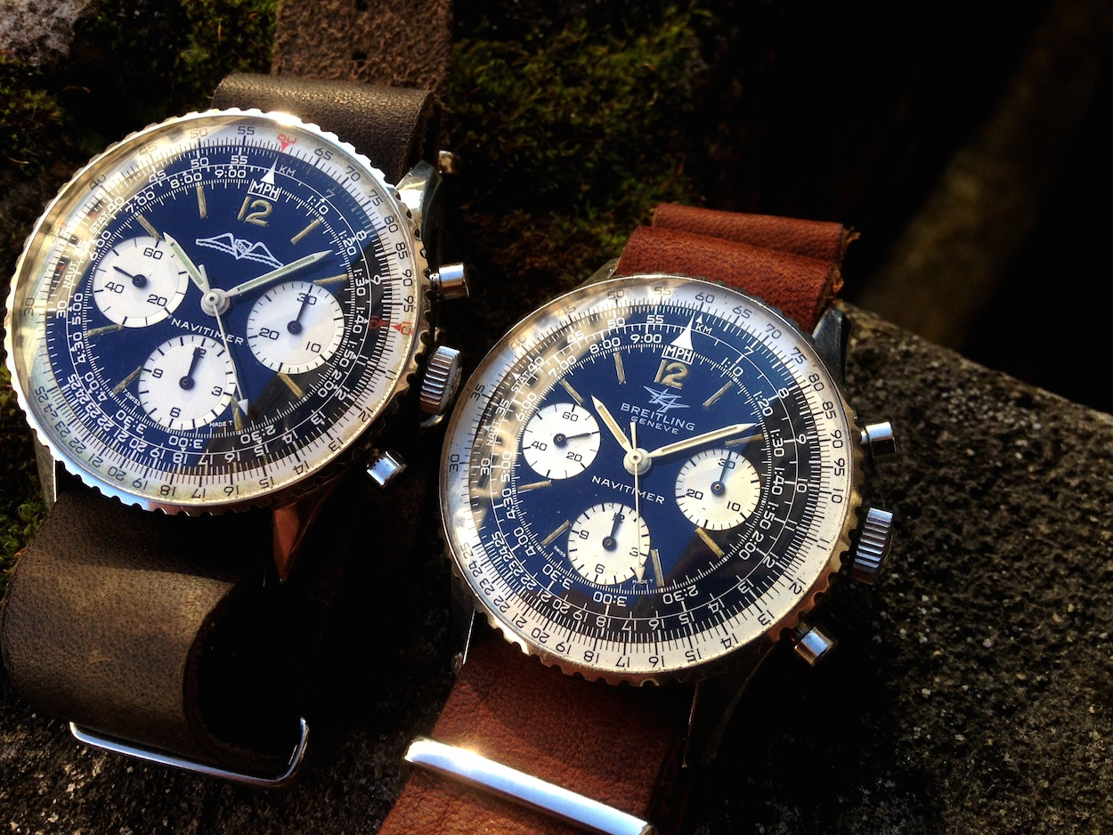 "Stop deliberating and grab a Breitling 806 Navitimer.  I think this is the last ""reasonable"" iconic vintage chronograph on the market (photo credit: @watchfred)"