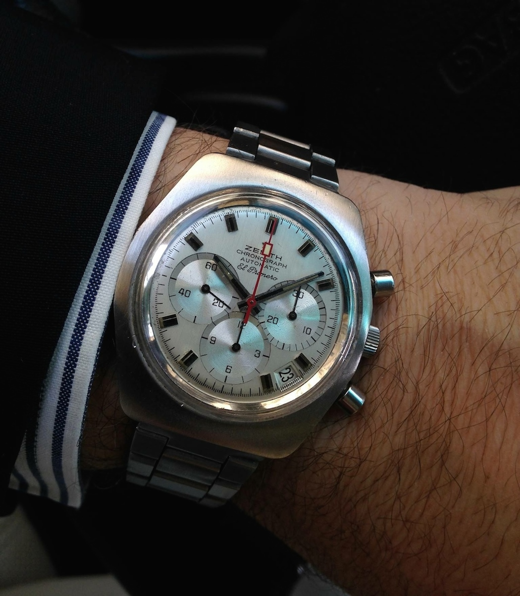 The Zenith El Primero A787 on the wrist (photo credit: @watchfred)