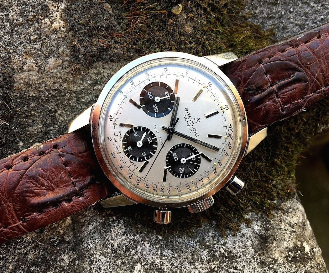 A panda example of the Breitling Top Time 810 2nd execution - not much to dislike at all (photo credit: @watchfred)