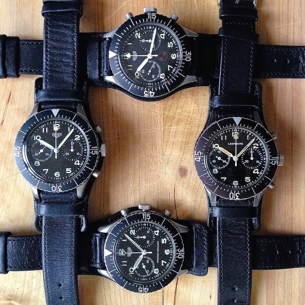 Ok, 2 of these pieces are inexpensive...the Heuer and the Heuer 3H.  Still, military chronographs like these 2 represent a nice deal.