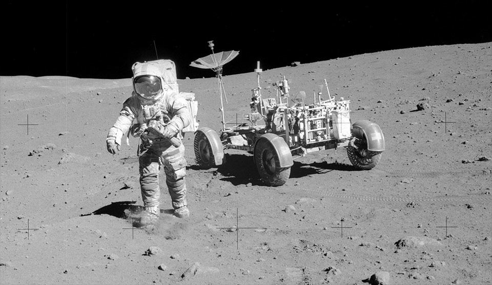 Dave Scott on the Moon