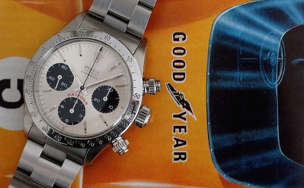 """The Rolex Daytona 6265 - big screw-down pushers and a clean, panda dial make this a winner.  This is about as """"affordable"""" as they come for manual wind Daytonas..."""