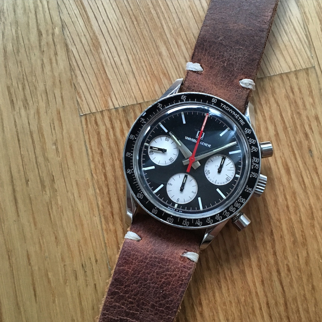 """The so called """"Evil Nina"""" Universal Geneve Compax - it provides a less expensive (still nasty) alternative to its panda sister."""