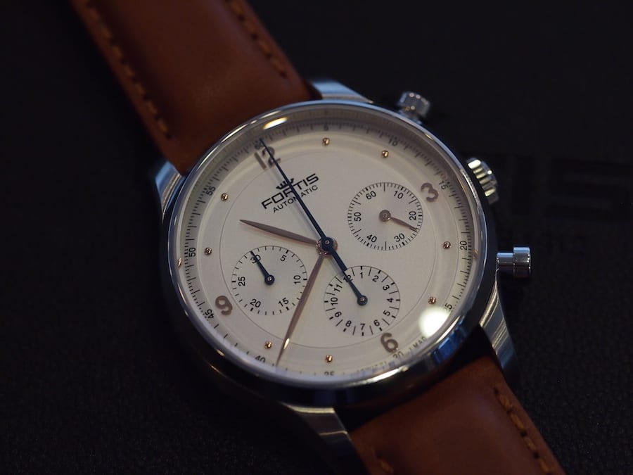 Fortis Terrestis Collection Tycoon white dial
