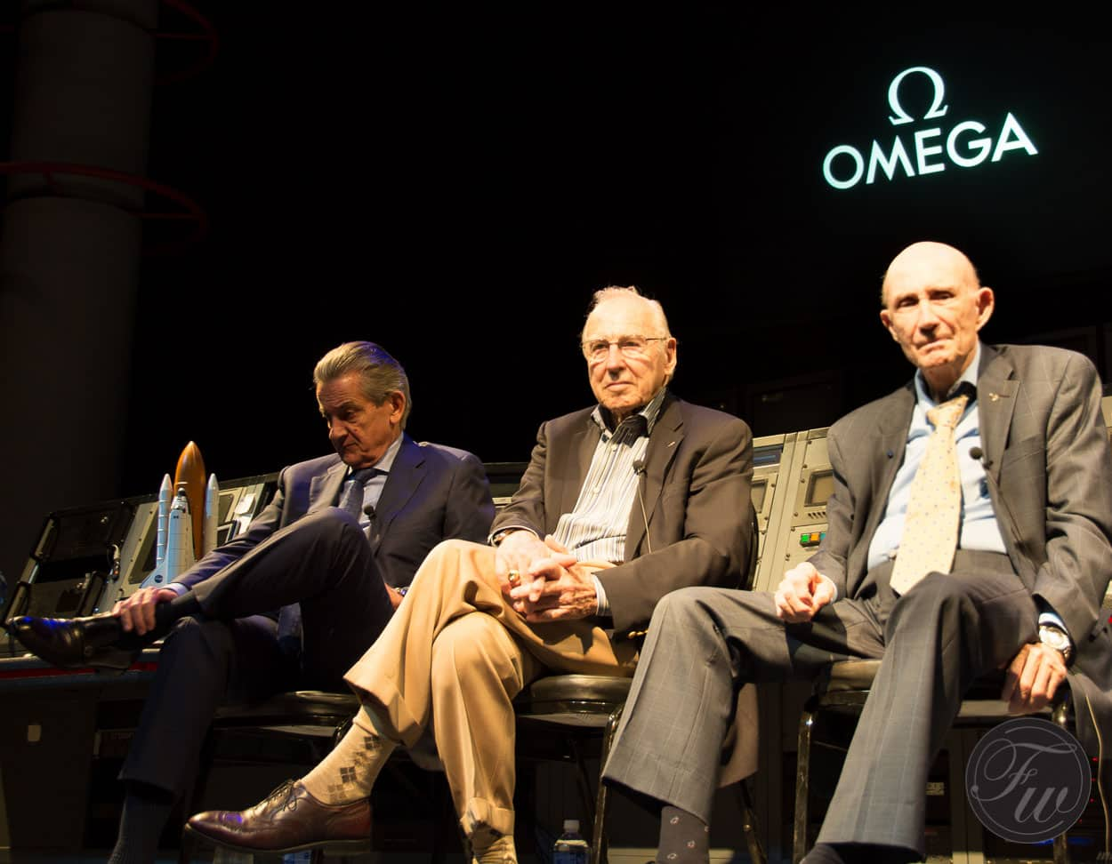 Omega CEO Urquhart, Astronauts Jim Lovell and Tom Stafford