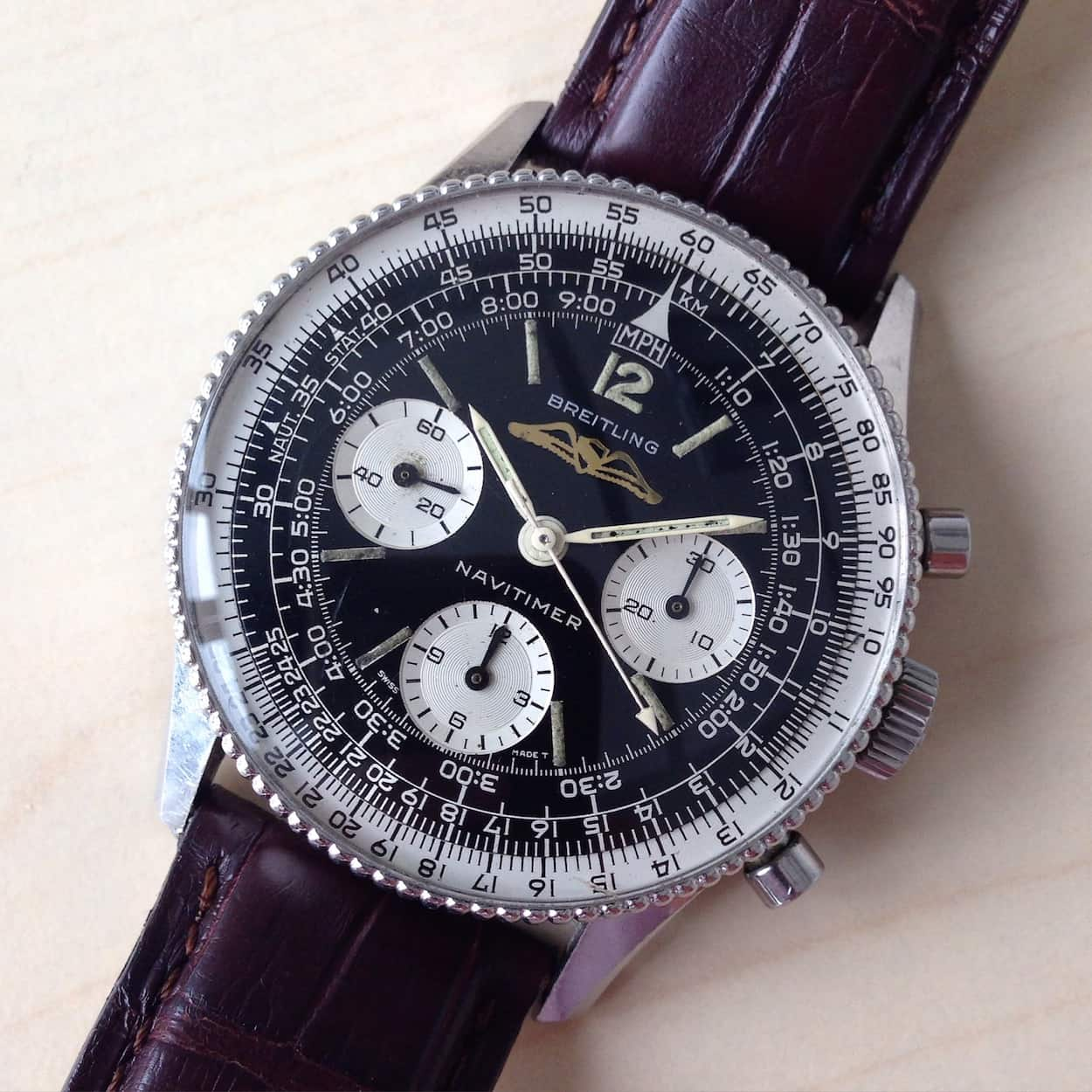 breitling aviator price yz8y  1965-66 Transitional ref806 Navitimer