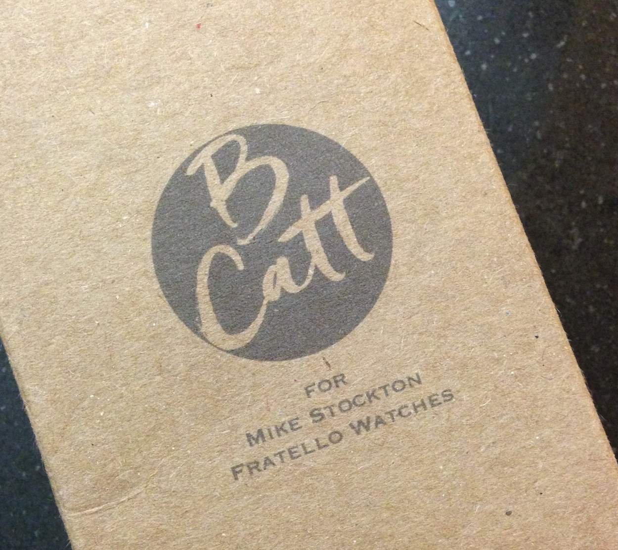 BCatt watch strap custom packaging