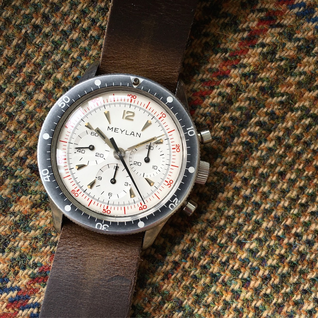 The Meylan Chronograph has great colors - a white dial is a nice change in direction.