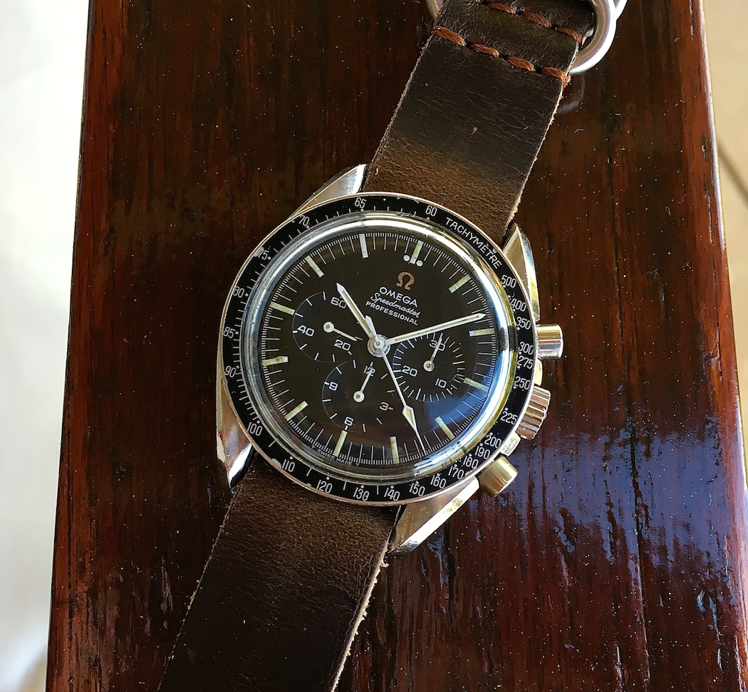 The Omega Speedmaster 145.012 with some typical missing lume at the hours