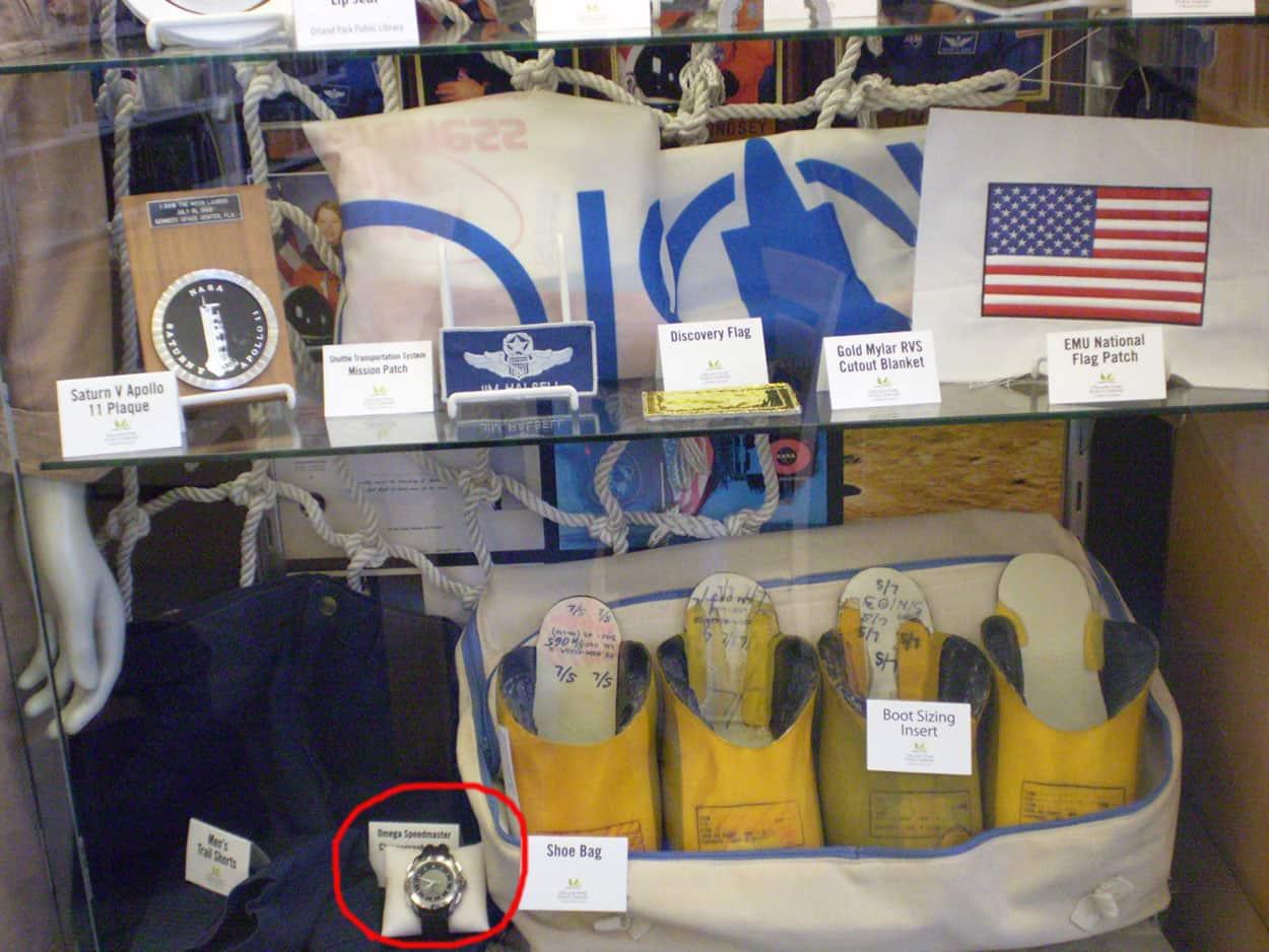 Display with NASA artifacts