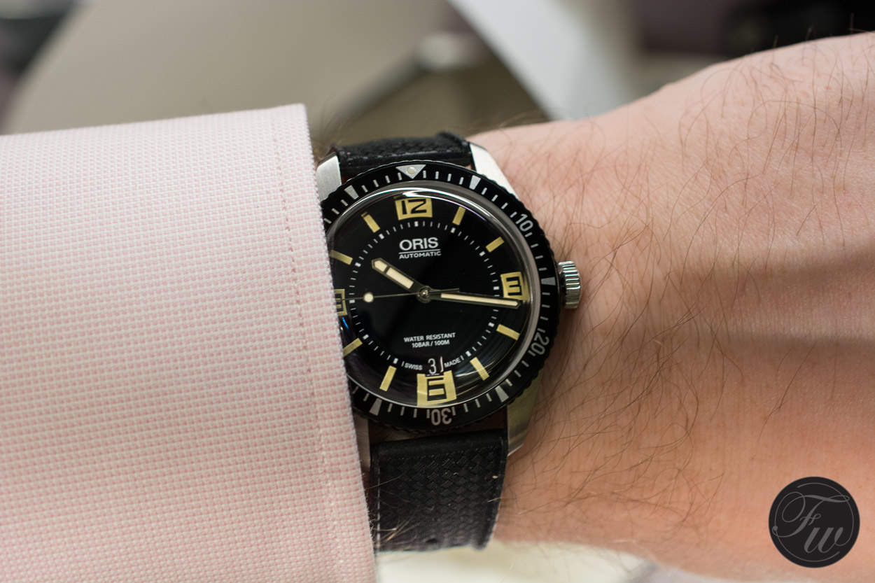 Oris Diver Sixy-Five wristshot