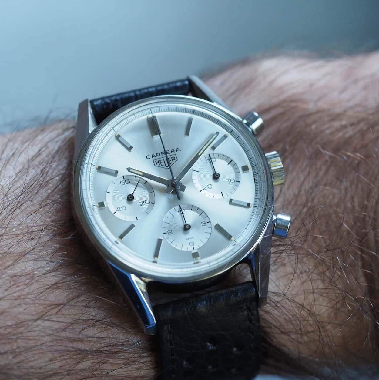 Heuer Carrera 2447S on the wrist