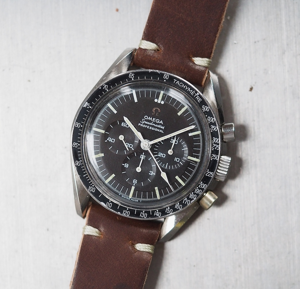 Omega Speedmaster 145.012 on a Rover Haven strap - it's a watch that looks good with about everything