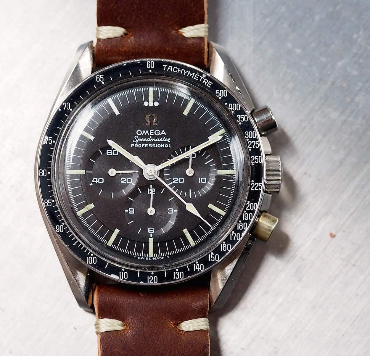 Another recent pick-up, a well-used but solid Omega Speedmaster 145.012.  The design is simply iconic.
